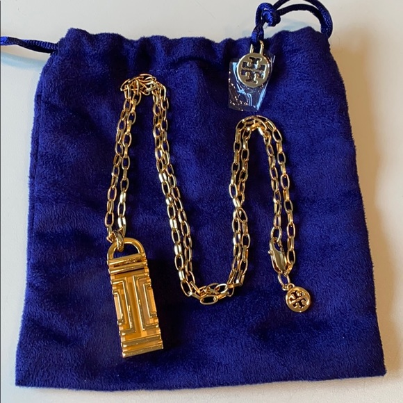 Tory Burch Gold Fitbit Necklace